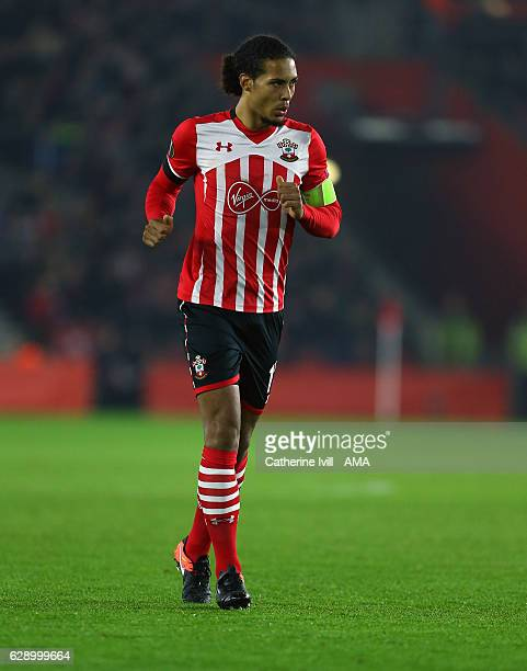 Virgil van Dijk of Southampton during the UEFA Europa League match between Southampton FC and Hapoel BeerSheva FC at St Mary's Stadium on December 8...