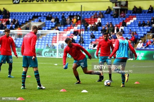 Virgil Van Dijk of Southampton FC warming up ahead of the premier League match between Crystal Palace and Southampton at Selhurst Park on September...