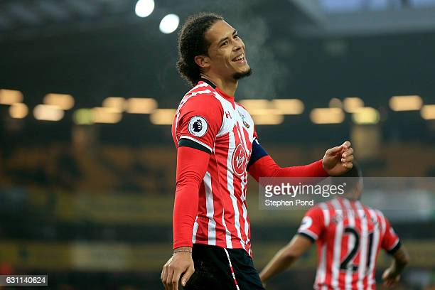 Virgil van Dijk of Southampton reacts during the Emirates FA Cup Third Round match between Norwich City and Southampton at Carrow Road on January 7...