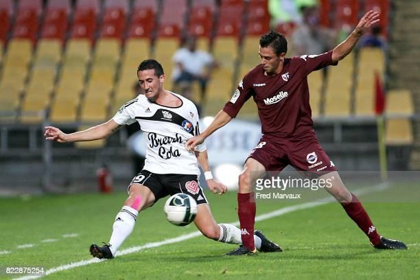 Virgile RESET / Olivier CASSAN Metz / Vannes 4eme journee ligue 2 Stade Saint Symphorien
