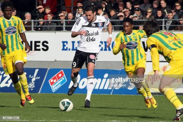 Virgile RESET / Serge GAKPE Vannes / Nantes 23eme journee de Ligue 2 Vannes