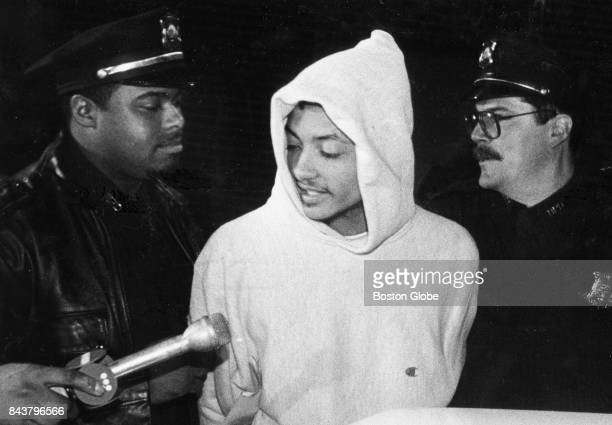 Virgilio Barbosa suspect in killing of Charleston Sarjeant is brought out by the South Bosotn Detective Unit in Boston on May 28 1992 Sarjeant was...