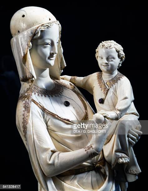 Virgin and Child prior to 1279 ivory statue from SainteChapelle in Paris France 13th century Paris Musée Du Louvre