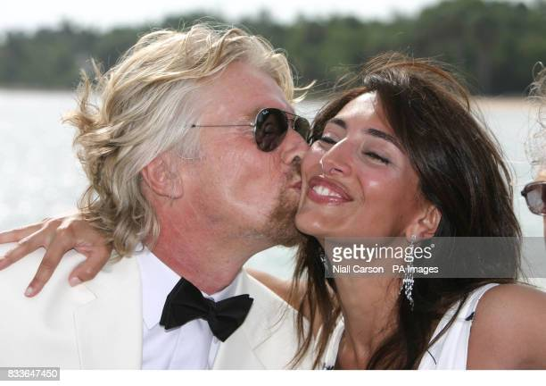 Virgin Atlantic boss Sir Richard Branson and Italian actress Caterina Murino who plays Solange in the upcoming James Bond film Casino Royale in...