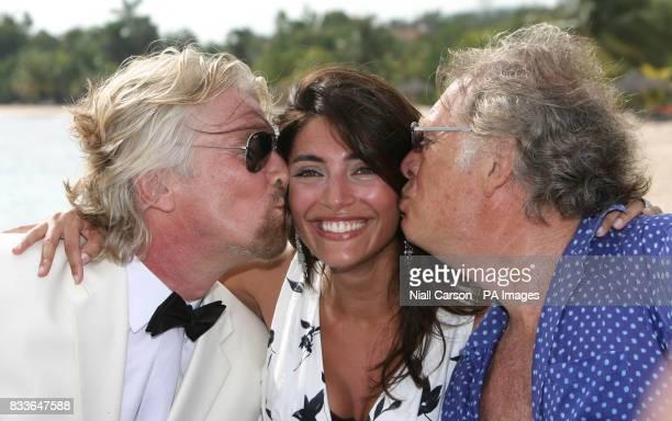Virgin Atlantic boss Sir Richard Branson Italian actress Caterina Murino who plays Solange in the upcoming James Bond film Casino Royale and record...