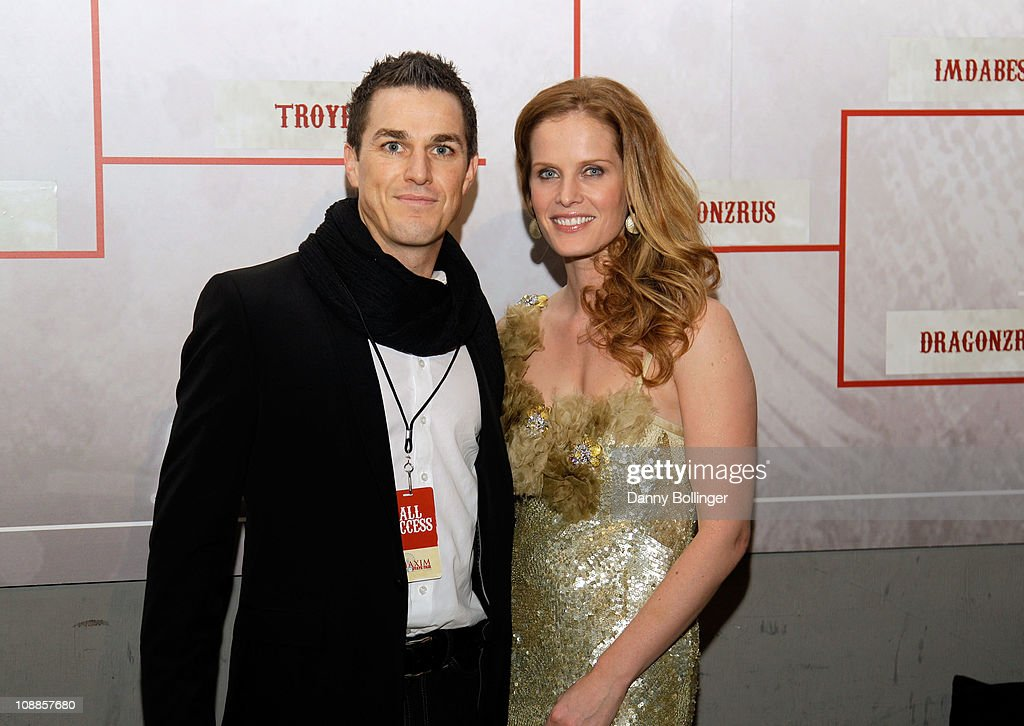 Virgin CEO Andrew Wilson and actress <a gi-track='captionPersonalityLinkClicked' href=/galleries/search?phrase=Rebecca+Mader&family=editorial&specificpeople=540377 ng-click='$event.stopPropagation()'>Rebecca Mader</a> attend Virgin Gaming at the Maxim Party Powered by Xoom at Centennial Hall at Fair Park on February 5, 2011 in Dallas, Texas.