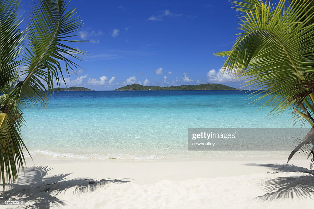 Virgin Islands beach : Stock Photo