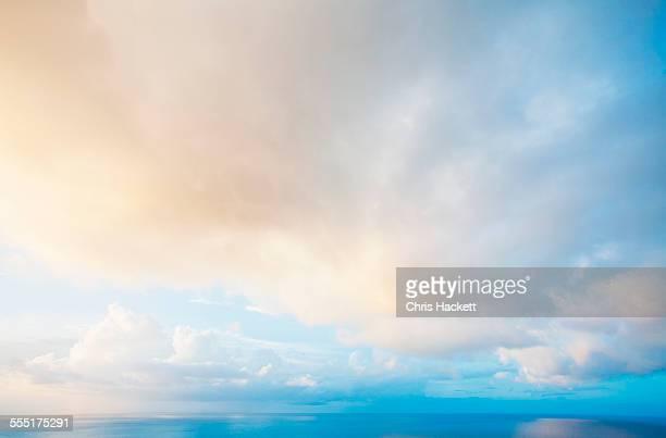 US Virgin Islands, St. John, Evening sky after storm