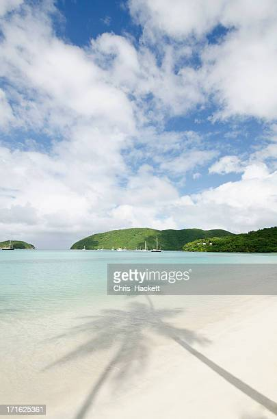 Virgin Islands, St. John, Maho Bay, View of sandy beach