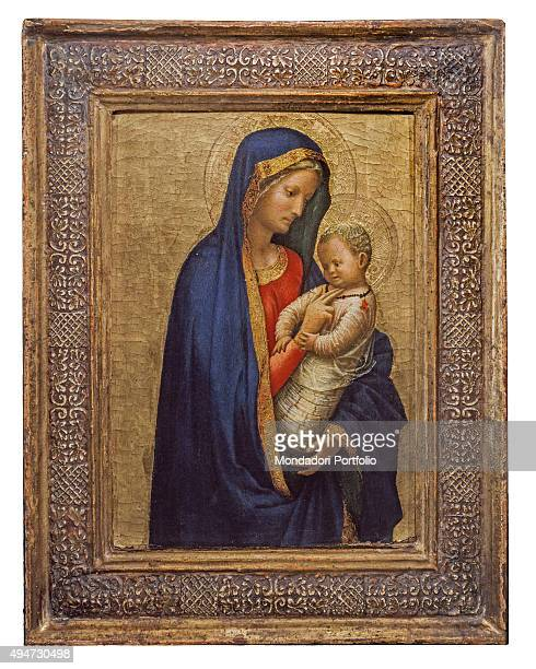 Virgin Mary and Christ Child or Tickling Madonna by Masaccio 14261427 15th Century tempera on board50 x 1820 cm Italy Tuscany Florence Uffizi Gallery...