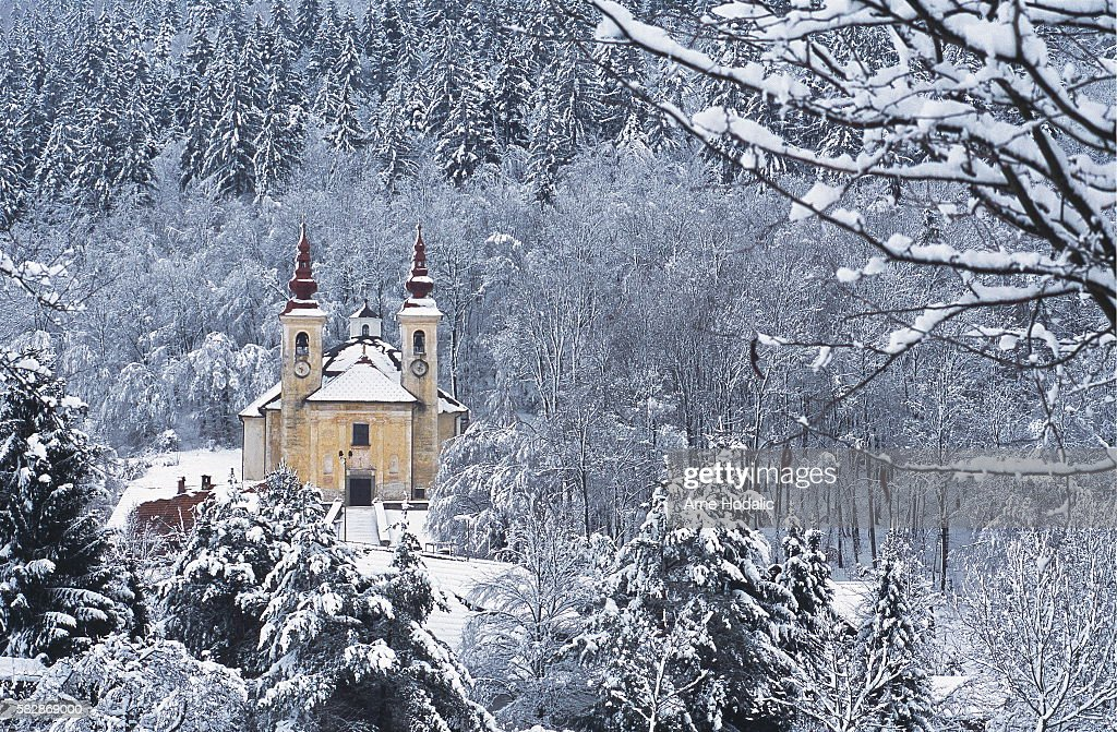 Virgin Mary's church on the hill next to the river Since prehistoric times the Ljubljanica River possessed a strong religious significance for the...
