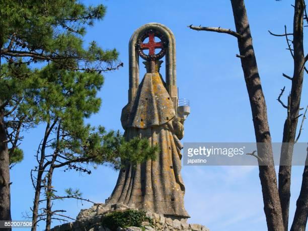 Virgin of the rock in Baiona. Pontevedra