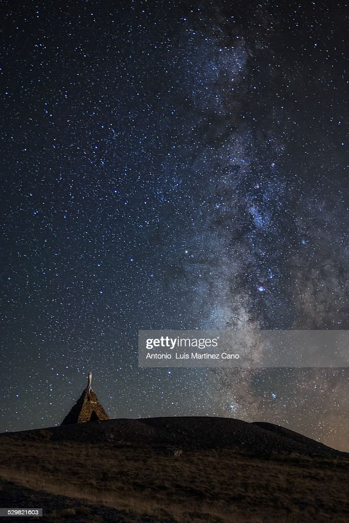 Virgin of the snow and milky way