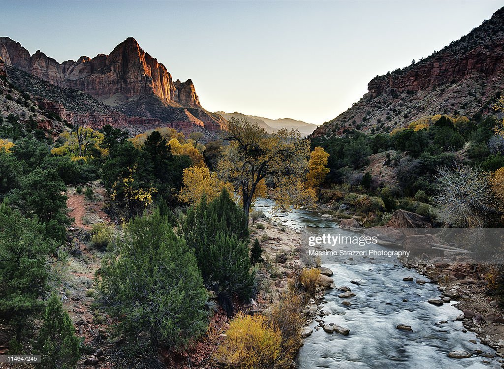 Virgin River at sunrise, Zion National Park
