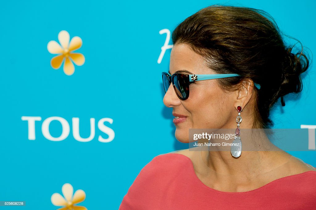 Virgina Troconis attends Tous 'Happy' sunglasses presentation at Fortuny Restaurant on April 28, 2016 in Madrid, Spain.