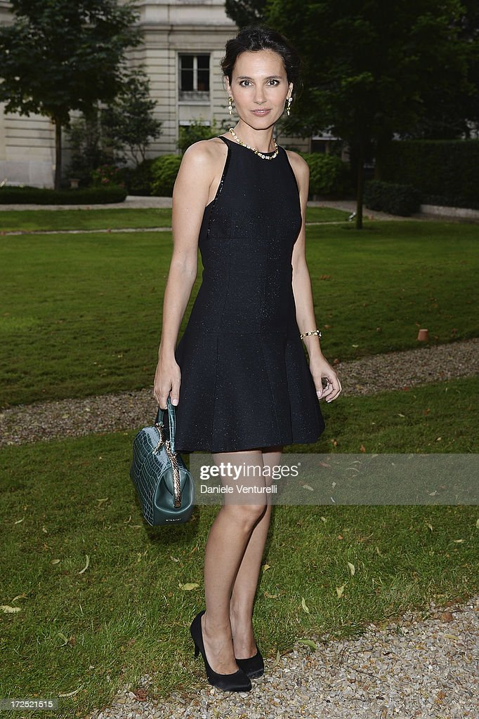 Virgine Ledoyen attends the Bulgari Diva Event at Hotel Potocki on July 2, 2013 in Paris, France.