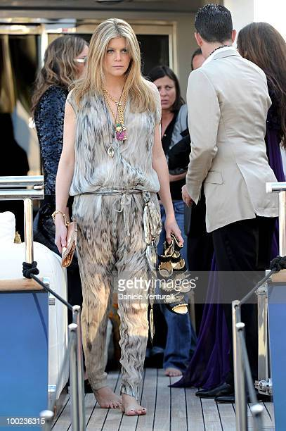 Virgine Mouzat depart for Naomi Campbell's birthday party during the 63rd Annual International Cannes Film Festival on May 22 2010 in Cannes France