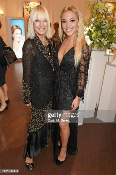Virgina Bates and Nicole Servinis attend the UK launch of Birks Jewellery at Canada House Trafalgar Square on October 16 2017 in London England