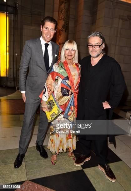 Virginia Bates David Downton and guest attends Balenciaga Shaping Fashion VIP Preview sponsored by American Express at Victoria and Albert Museum on...