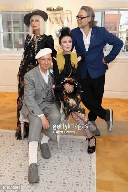 Virginia Bates Stephen Jones Valerie Von Sobel and David Downton attend the Dior cocktail party to celebrate the launch of Dior Catwalk by Alexander...