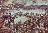 Battle of Fredericksburg Virginia Pontoon across the Rappahannock
