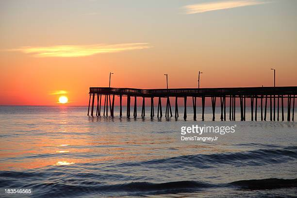 Virginia beach stock photos and pictures getty images for Fishing piers in va