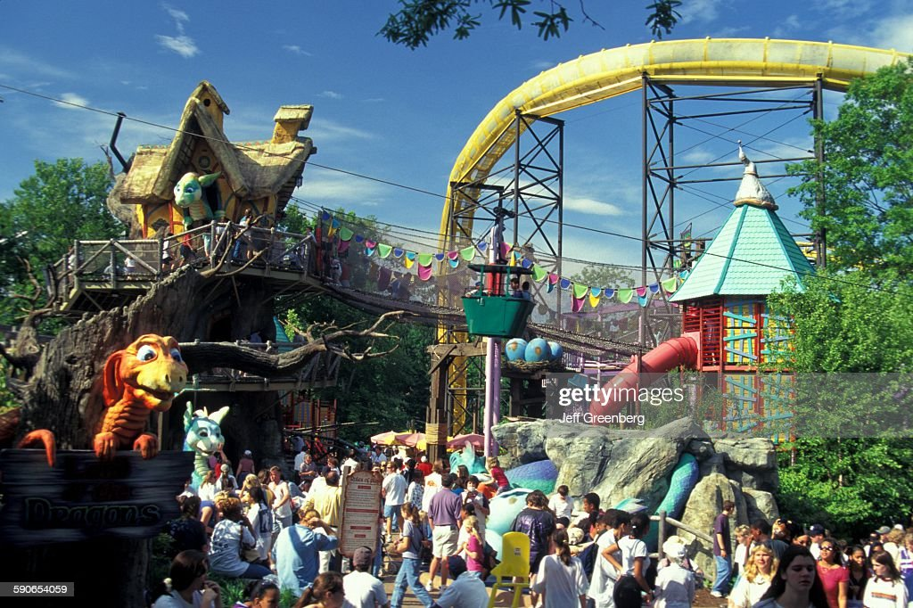Virginia, Colonial Williamsburg, Busch Gardens Theme Park Land Of The  Dragons Kids Area.