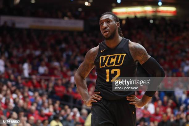 Virginia Commonwealth Rams forward Mo AlieCox looks on during the game against the VCU Rams and the Dayton Flyers on March 1st 2017 at The University...