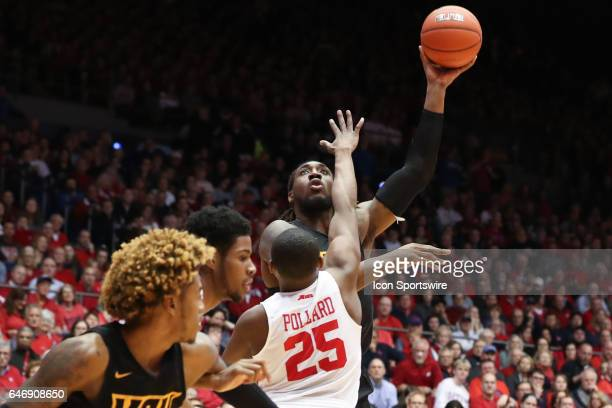 Virginia Commonwealth Rams forward Mo AlieCox takes a shot during the game against the VCU Rams and the Dayton Flyers on March 1st 2017 at The...