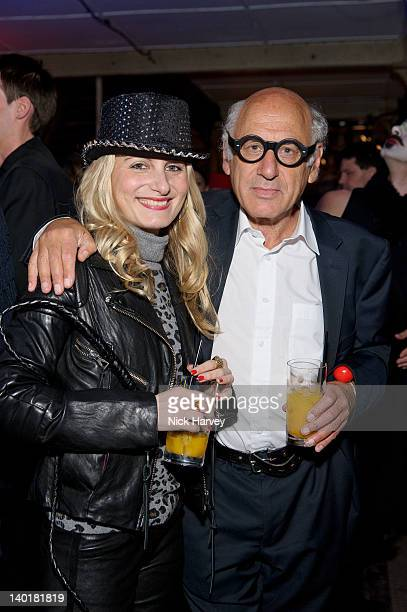 Virginia Damtsa and Michael Nyman attend the Contemporary Art Society 'Auction Gala' at Farmiloe Building on February 29 2012 in London England