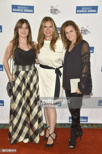 Virginia Davis of G Major Management/Home Team Lou Taylor of Tri Star Sports and Entertainment and Ali Harnell of AEG Live arrive at the 2017...