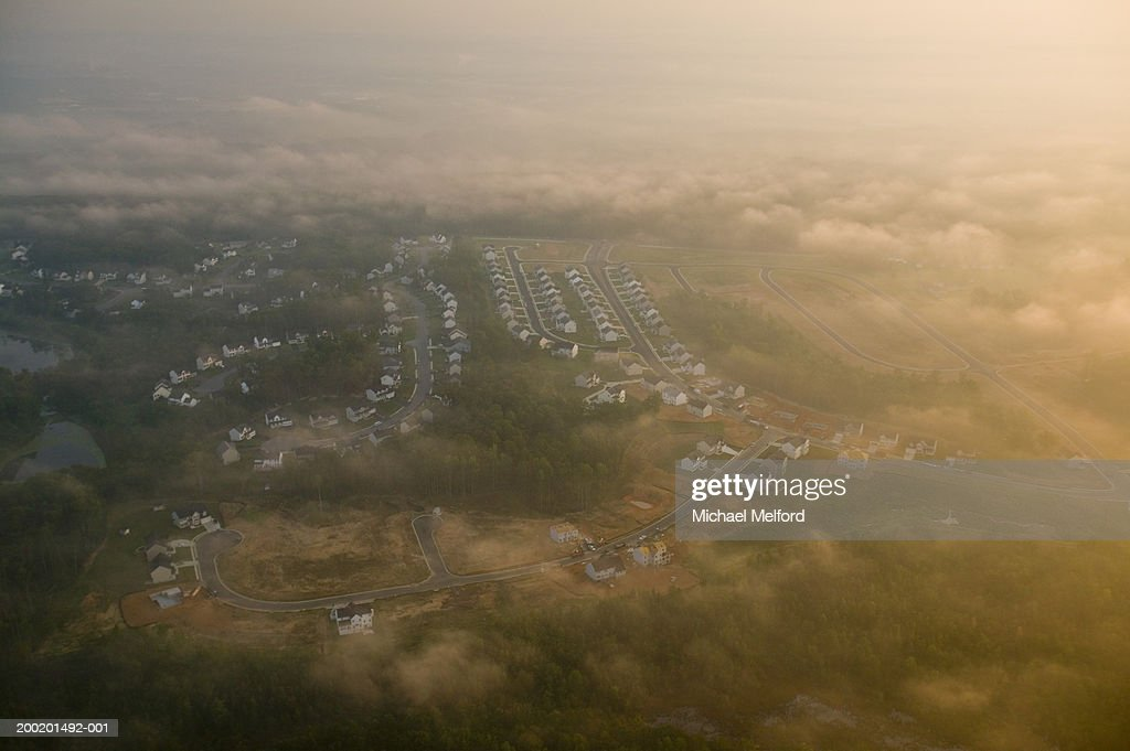 USA, Virginia, Fredericksburg, housing development, aerial view : Stock Photo