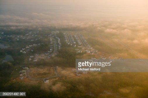 USA, Virginia, Fredericksburg, housing development, aerial view : Stock Photo