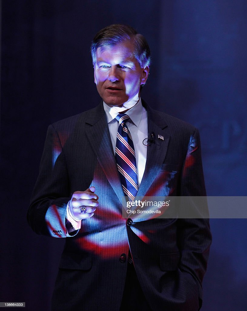 Virginia Gov Bob McDonnell steps through a spotlight while delivering remarks to the Conservative Political Action Conference at the Marriott Wardman...