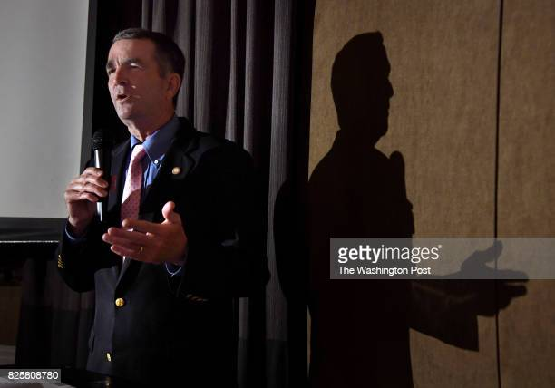 Virginia Gov candidate Ralph Northam speaks at a fundraiser for the Pride Fund in Washington DC He's an ardent gun control activist Northam attended...