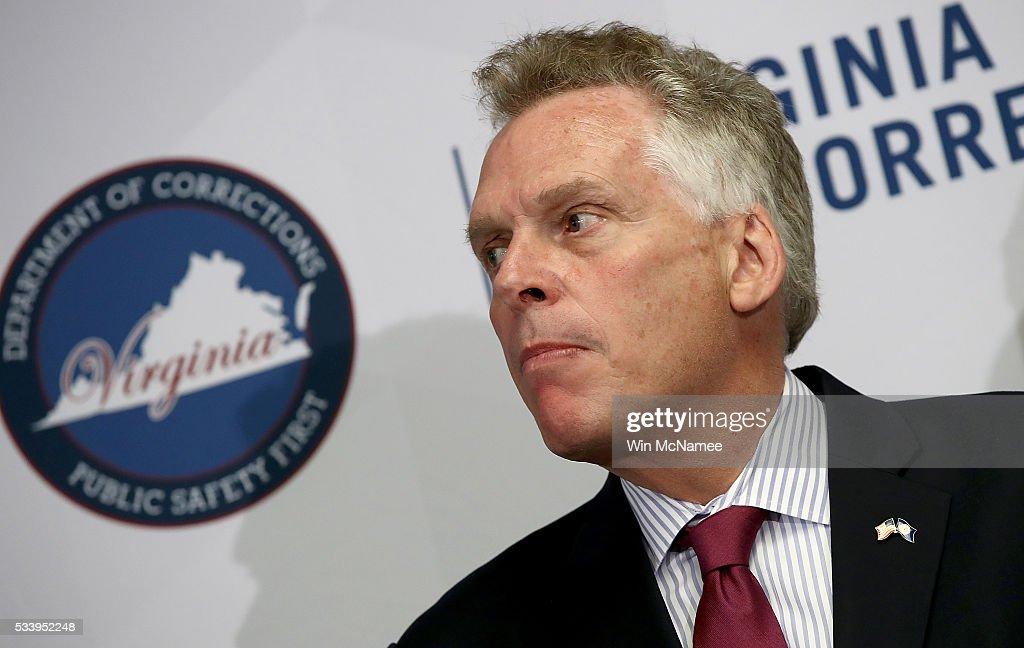 Virginia Gov. <a gi-track='captionPersonalityLinkClicked' href=/galleries/search?phrase=Terry+McAuliffe&family=editorial&specificpeople=206776 ng-click='$event.stopPropagation()'>Terry McAuliffe</a> speaks during an event at the Alexandria Probation and Parole Office May 24, 2016 in Alexandria, Virginia. After the event, McAuliffe addressed recent allegations that the F.B.I. is investigating donations to his election campaign made by U.S.-based companies controlled by Chinese businessman Wang Wenliang.
