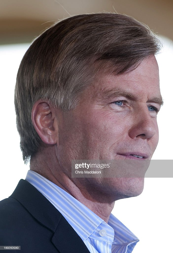 "Virginia governor Bob McDonnell speaks at GOP presidential candidate Mitt Romney's rally in Manassas during his ""Plan For A Stronger Middle Class' bus tour in Virginia. Romney announced this morning that Rep. Paul Ryan, R-Wi., will be his running mate as vice president."