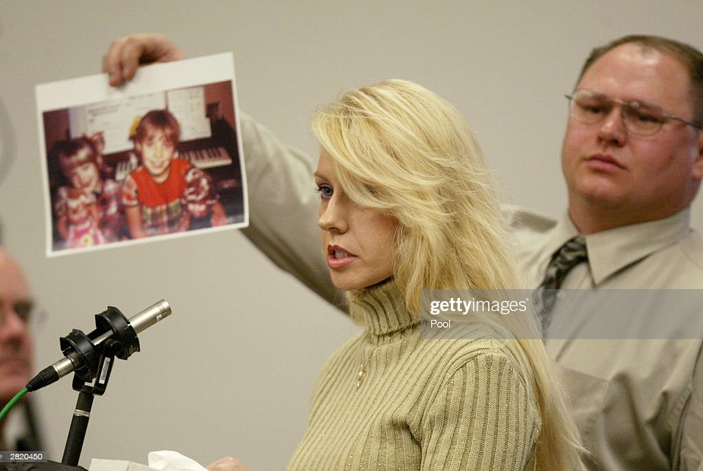 Virginia Graham, sister of Green River Killer victim Debra Estes, speaks in court during the sentencing of Gary Ridgway December18, 2003 in Seattle, Washington. Ridgway recieved a life sentence, with out the possibility of parole, for killing 48 women over the past 20 years in the Green River Killer serial murder case.