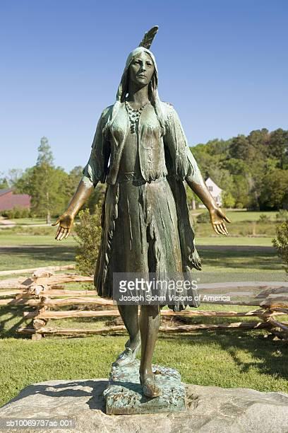 USA, Virginia, Jamestown, Pocahontas Statue