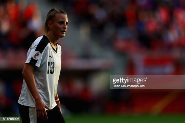 Virginia Kirchberger of Austria in action during the Group C match between France and Austria during the UEFA Women's Euro 2017 at Stadion...