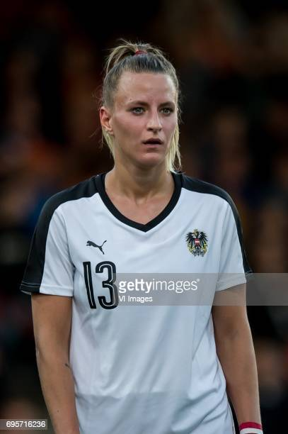 Virginia Kirchberger of Austriaduring the friendly match between the women of The Netherlands and Austria at at The Adelaarshorst on on June 13 2017...