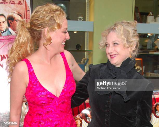 Virginia Madsen and Carol Kane during 'A Prairie Home Companion' New York Premiere Arrivals at DGA Movie Theatre in New York City New York United...