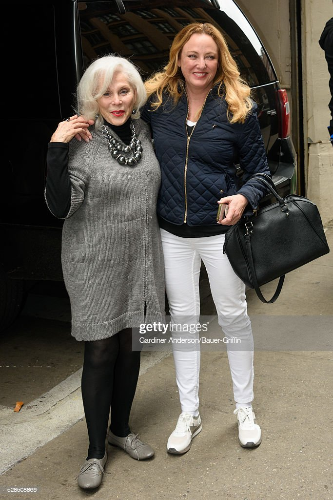 Virginia Madsen and Elaine Madsen are seen on May 05, 2016 in New York City.
