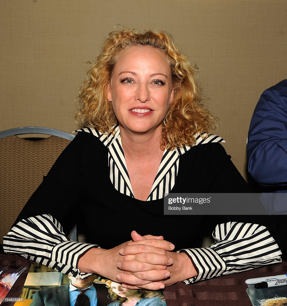 <a gi-track='captionPersonalityLinkClicked' href=/galleries/search?phrase=Virginia+Madsen&family=editorial&specificpeople=202232 ng-click='$event.stopPropagation()'>Virginia Madsen</a> attends the 2012 Chiller Theatre Expo at the Sheraton Parsippany Hotel on October 26, 2012 in Parsippany, New Jersey.