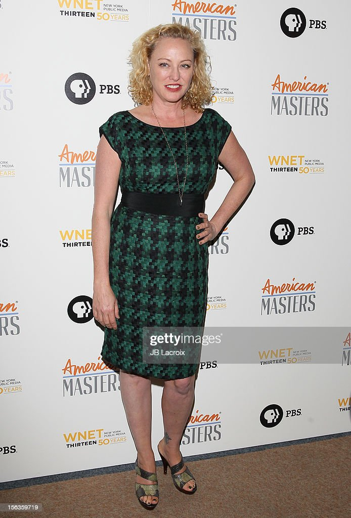 Virginia Madsen attends the 'Inventing David Geffen' Los Angeles Premiere held at Writer's Guild Theater on November 13, 2012 in Los Angeles, California.