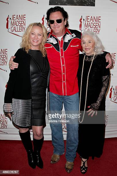 Virginia Madsen her brother Michael Madsen and their mother Elaine Madsen attend the Aparecio Foundation event for 'Women Empowering Women' hosted by...