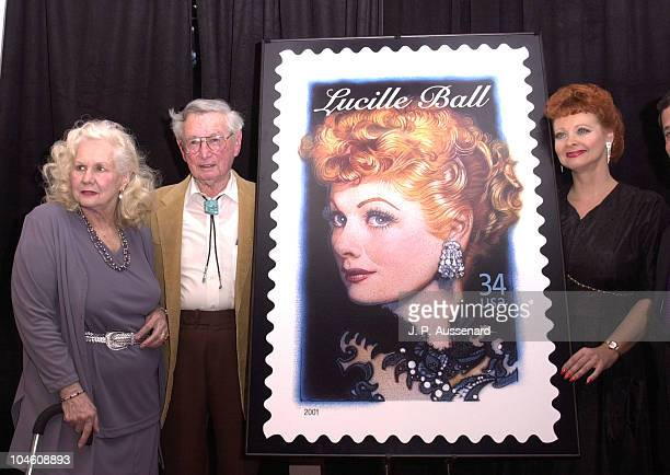 Virginia Mayo Fred Ball Suzanne LaRusch during Lucille Ball Honored On US Postage Stamp at Hollywood History Museum in Hollywood California United...