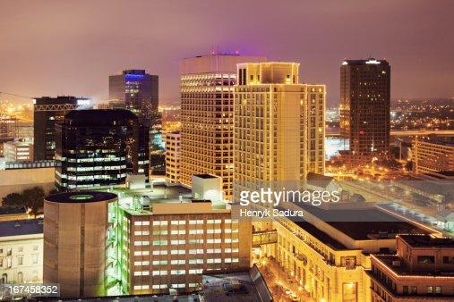 USA, Virginia, Norfolk, Cityscape at evening : Stock Photo