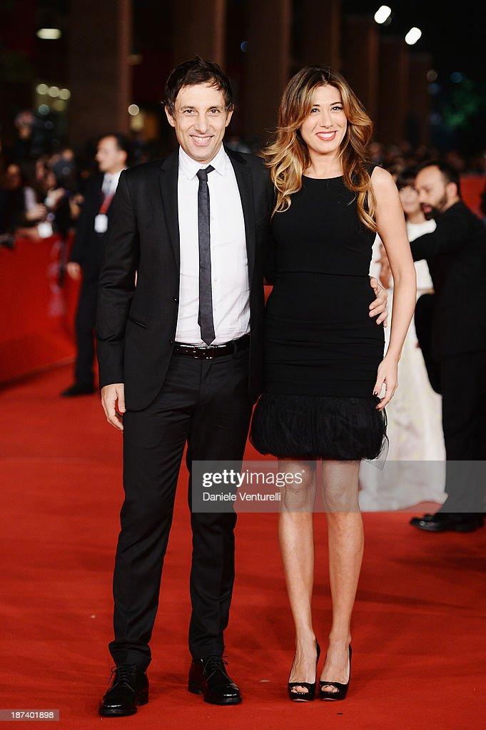 Virginia Raffaele and Ubaldo Pantan iattend the Opening Ceremony and 'L'Ultima Ruota Del Carro' Premiere during The 8th Rome Film Festival on...