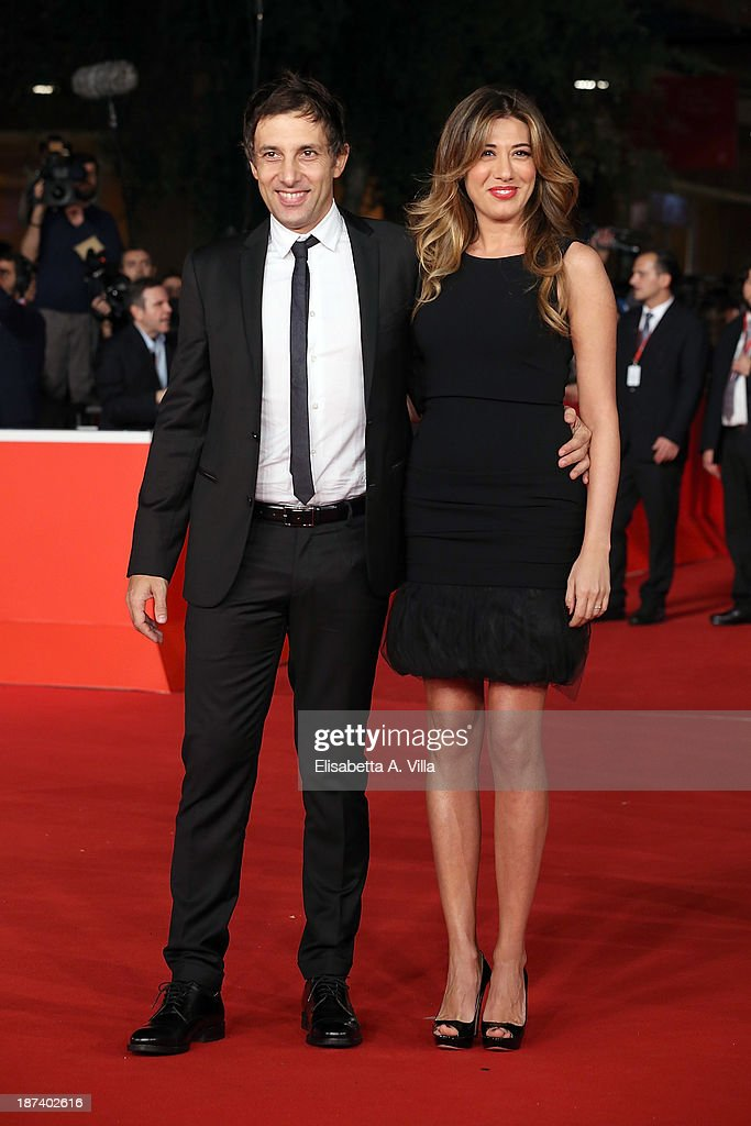 Virginia Raffaele and Ubaldo Pantani attend the Opening Ceremony and 'L'Ultima Ruota Del Carro' Premiere during The 8th Rome Film Festival on...